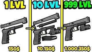 ЭВОЛЮЦИЯ ПУШЕК ЧТОБЫ ВРУЧНУЮ СОБРАТЬ ВСЕ ВИДЫ ОРУДИЙ В ИГРЕ IDLE GUNS 3D!