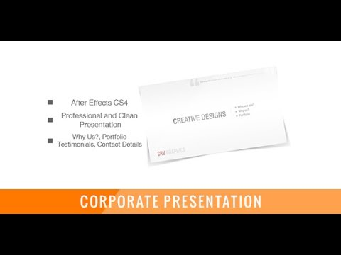 corporate and clean presentation | after effects template, Presentation templates