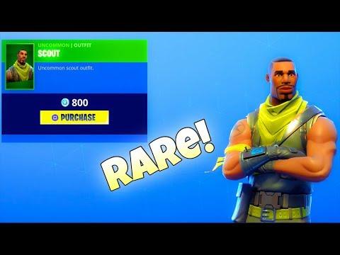 RARE SKIN IS BACK!!! SCOUT! (NEW EMOTE Item Shop) Fortnite Battle Royale