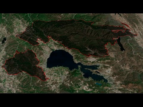 Watch the Mendocino Complex wildfires grow