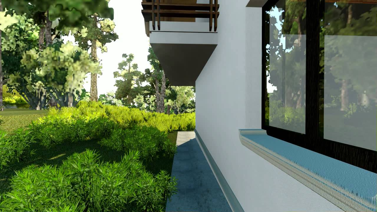 archicad exterior render youtube. Black Bedroom Furniture Sets. Home Design Ideas