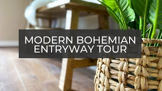MODERN BOHEMIAN ENTRYWAY TOUR|ENTRYWAY BEFORE & AFTER