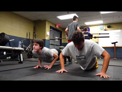 Our Lady of Lourdes High School Wrestling Weight training and Conditioning Practice