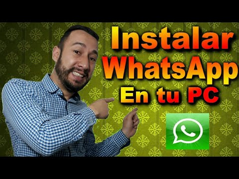 WhatsApp en computadora instalar en computador 📵 SIN SMARTPHONE o teléfono inteligente 📵