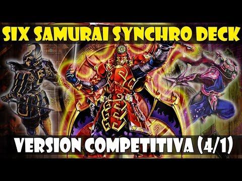 SIX SAMURAI/SEIS SAMURAIS SYNCHRO DECK | VERSION COMPETITIVA/P2W (MONSTRUOS 4/1) - DUEL LINKS