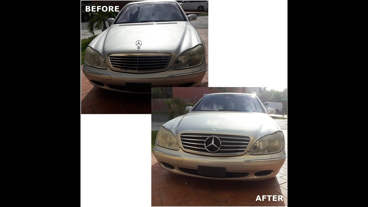 mercedes w220 s430 custom modification grille replacement upgrade [ 1280 x 720 Pixel ]