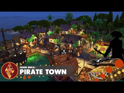 Pirate Town - The Sims 4 Get Famous  - House Build | HD