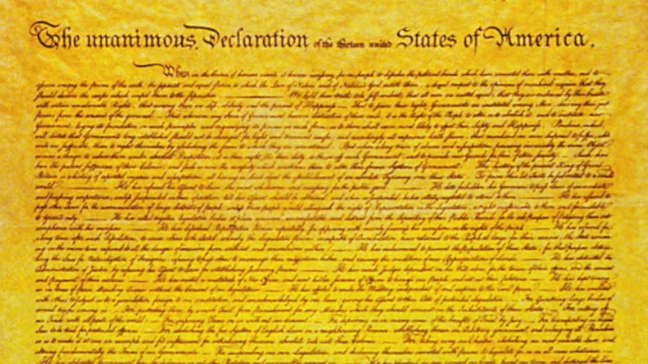 Declaration Of Independence Song History Class Project Youtube