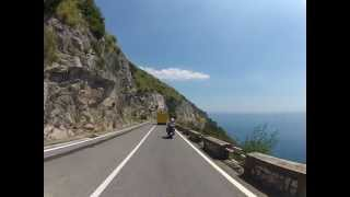 motorcycle trip riding along the amalfi coast italy 1