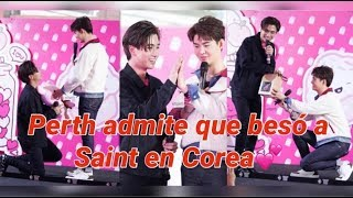 Perth acepta que beso a Saint en Corea Miles de momentos hermosos