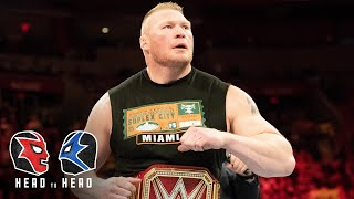 Is Brock Lesnar a good Universal Champion?: WWE Head to Head