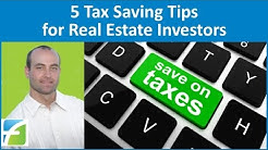 5 Tax Saving Tips for Real Estate Investors