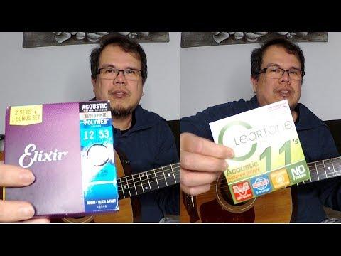 Elixir Vs Cleartone Strings Comparison On Taylor 110e Acoustic Guitar