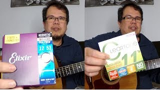 Elixir vs Cleartone Strings Comparison on Taylor 110e Acoustic Guitar