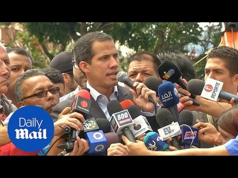 Guaido Discusses Plans To Bring In Supplied Humanitarian Aid