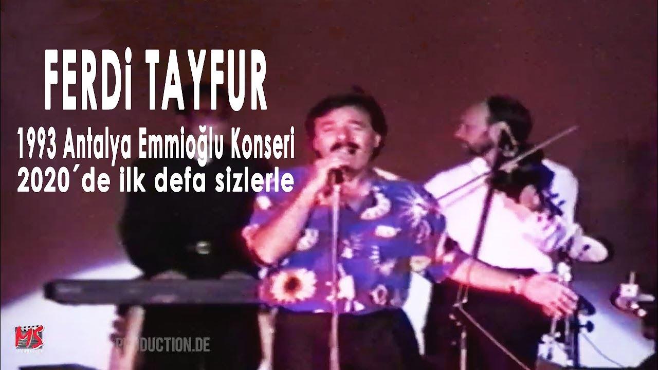 FERDI TAYFUR 1993 Antalya Emmioğlu Konseri Full