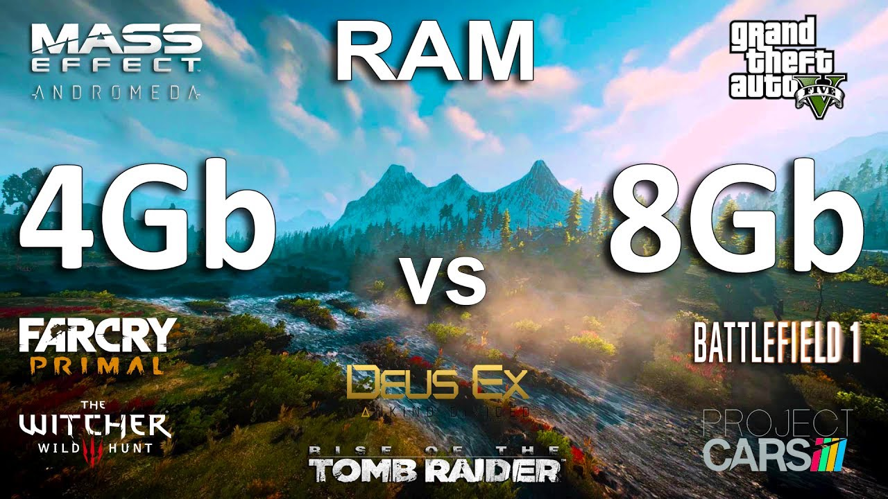 4Gb vs 8Gb RAM Test in 8 Games - YouTube