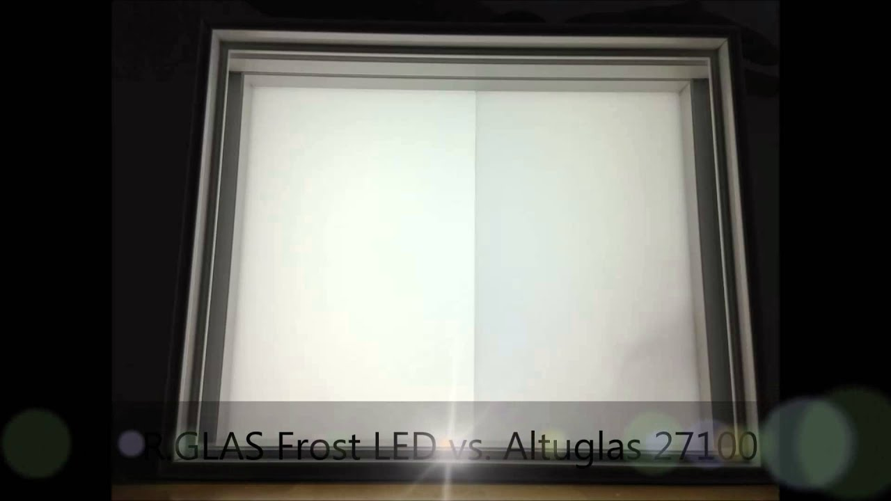Satiniertes Glas R.glas Frost Led - Youtube