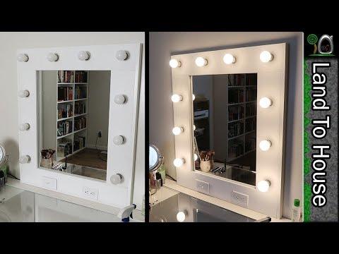 Makeup Vanity Mirror with Lights DIY Step by Step