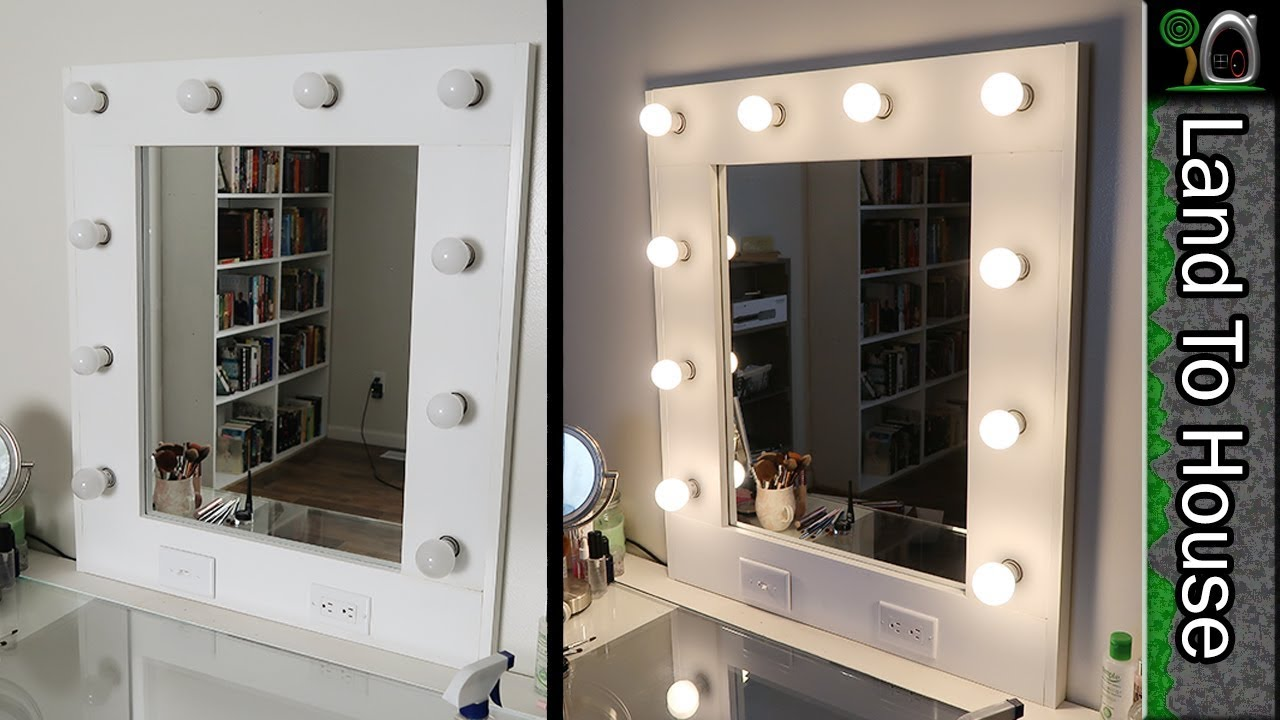 Makeup vanity mirror with lights diy step by step youtube makeup vanity mirror with lights diy step by step aloadofball Gallery
