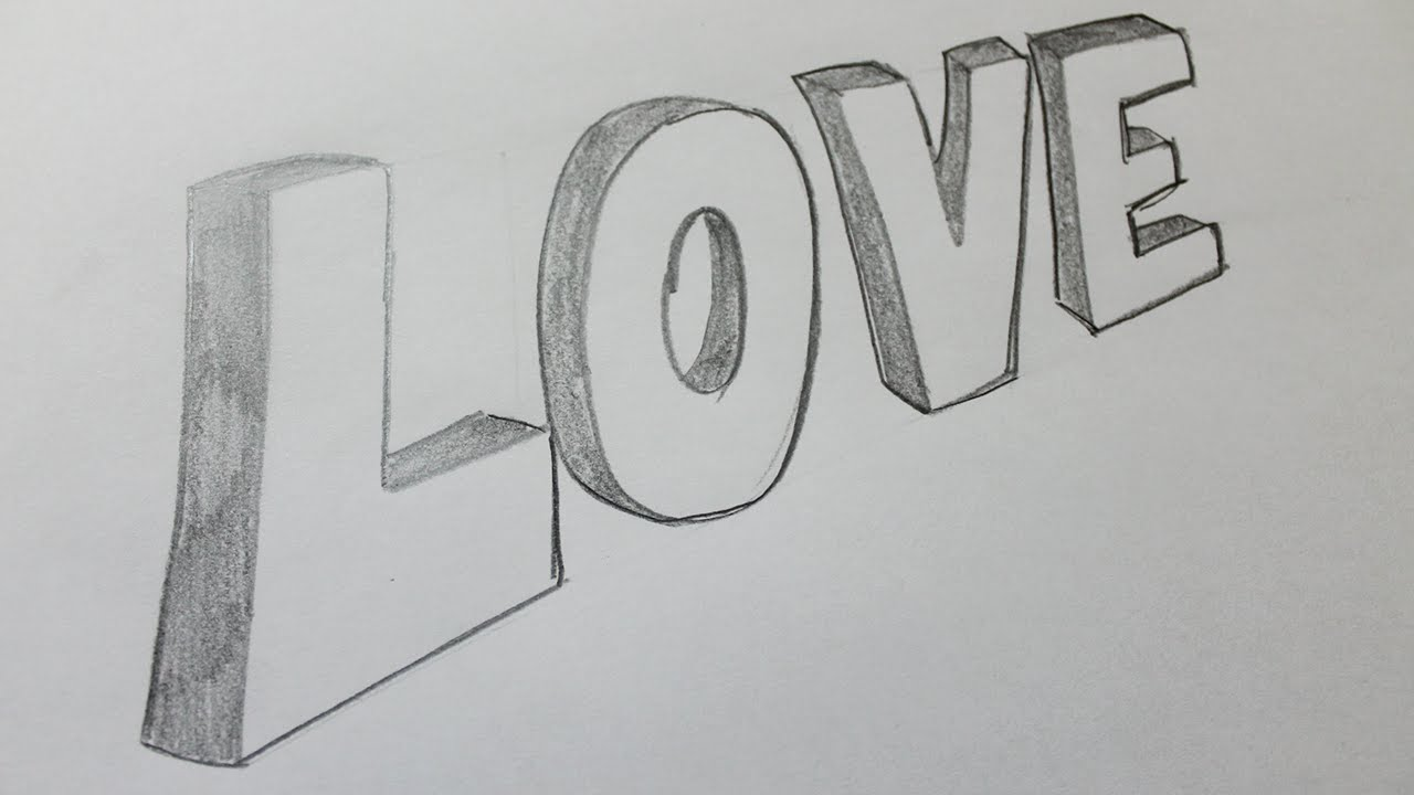 Comment dessiner un love 3d youtube