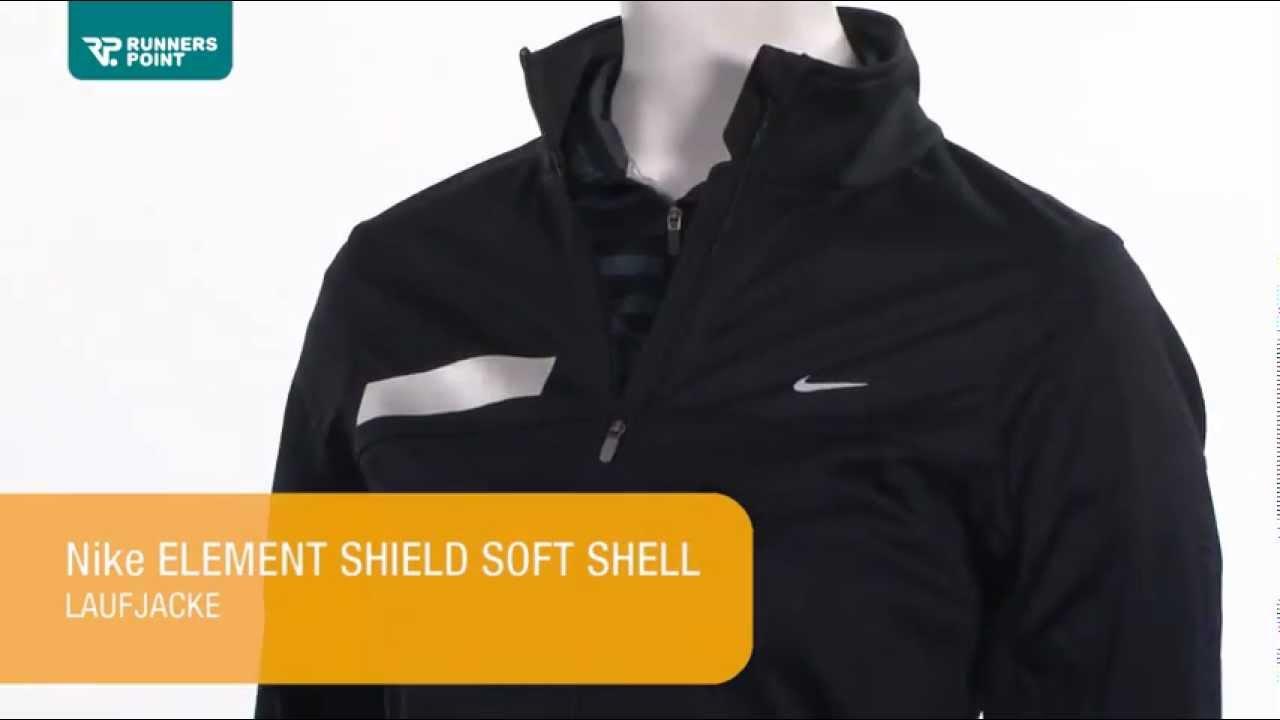 Nike ELEMENT SHIELD SOFT SHELL LAUFJACKE - YouTube 38752ba7a7f9