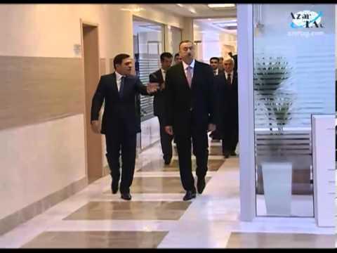 Prezident  Binəqədi Rayon İcra Hakimiyyətinin inzibati binasının açılışında iştirak edib