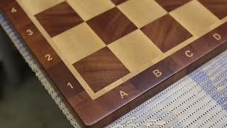 End grain birch/sapele chessboard with the solid squares