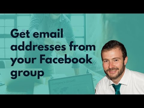 Get Email Addresses From Facebook Groups