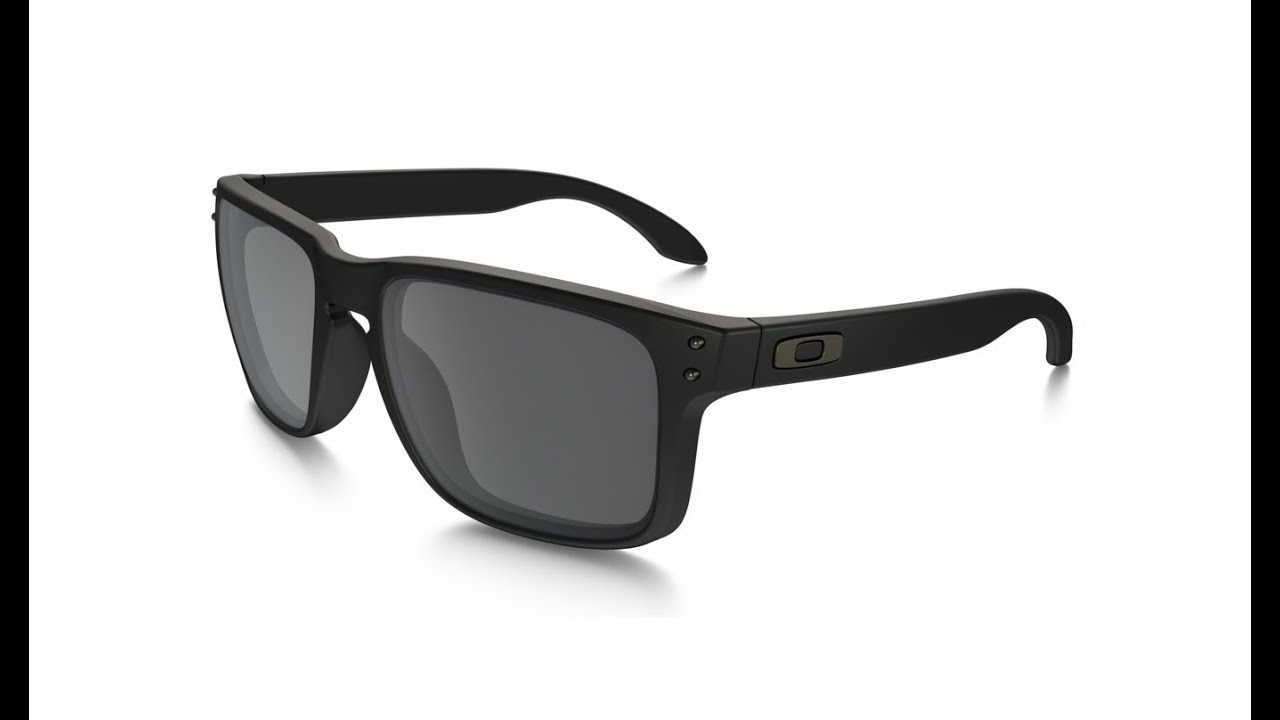 966057faed Oakley Holbrook Matte Black Iridium OO9102 - YouTube