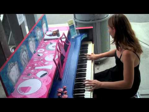 """Erin Jordan performs her song, Black Widows, on the """"Alice piano"""" at Shoreline Piano Times!"""