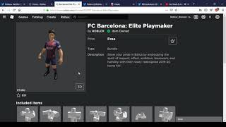 How to get fc barcelona: elite playmaker   roblox
