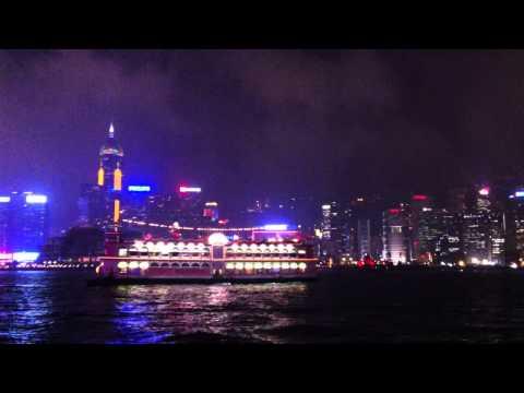 Hong Kong Nightlife....spectacular light show.