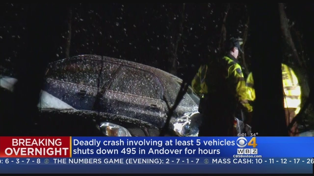Tow Truck Driver Killed In Multi-Car Crash On 495 in Andover
