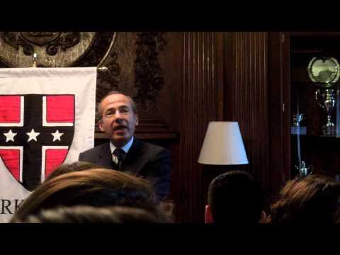 Felipe Calderon Speaks at Harvard