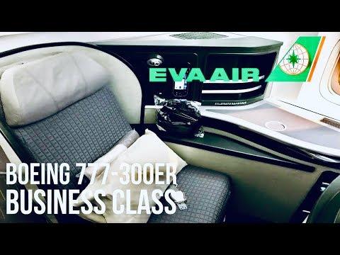 EVA Air Business Class Boeing 777-300ER Bangkok to Taipei