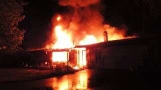 Mabas15 Morris Fire Prot. District-fully Involved House,neighbor Rescues A Dog From The Burning Home