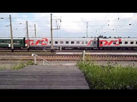 Поезд номер 83 Приобье-Москва отправление со станции Котельнич I.