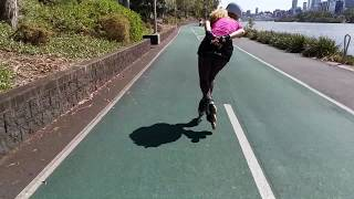 Inline skating is a great fitness workout, but only if you do it properly. Fitness Skating