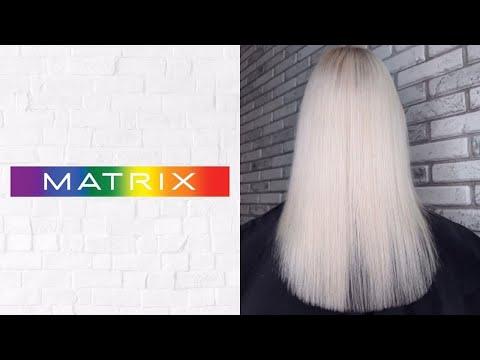 Блонд БЕЗ порошка! Осветление крем краской MATRIX ранее окрашенных волос. Инструкция в описании.