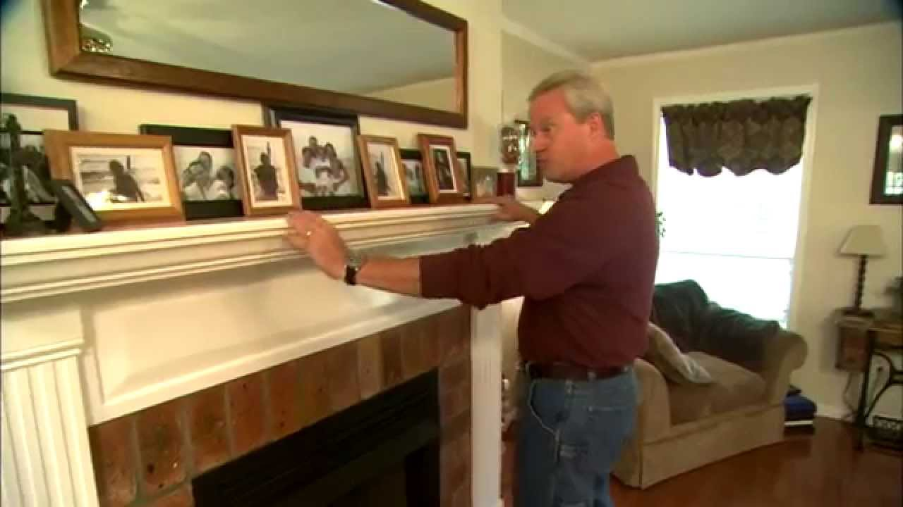 diy fireplace mantel youtube