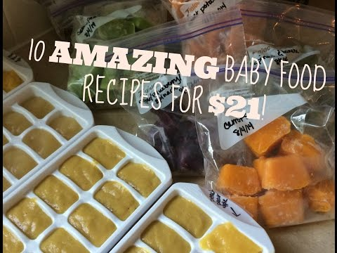 10 HOMEMADE BABY FOOD RECIPES FOR $21.95!