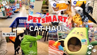 My Cat's Monthly Petsmart Haul 2021 / Shopping for cat supplies, new treats & toys