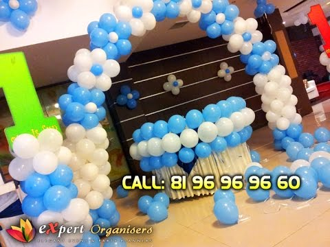 Expert birthday planners and balloon decorators in for Balloon decoration ideas youtube