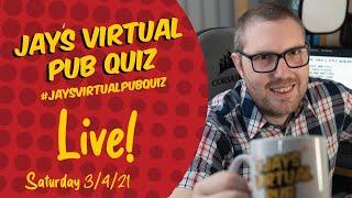 Virtual Pub Quiz, Live! Saturday 3rd April