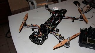 1st Full Operation test flight - QAV 540G quadcopter
