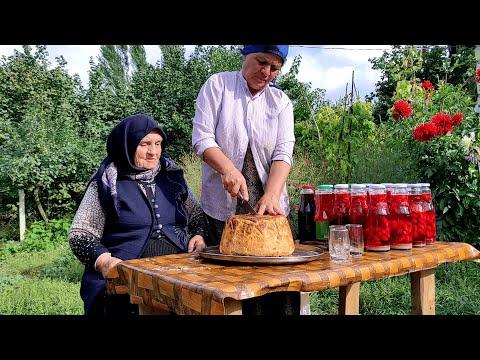 Şah Plovun  və Zoğal Kompotun Hazırlanması, ASMR food, Outdoor Cooking
