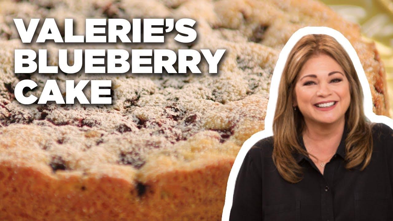 Blueberry Cake With Lemon Mascarpone Cream With Valerie Bertinelli Food Network Youtube