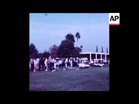 UPITN 29 11 71 PRESIDENT NIXON PLAYING GOLF IN CALIFORNIA