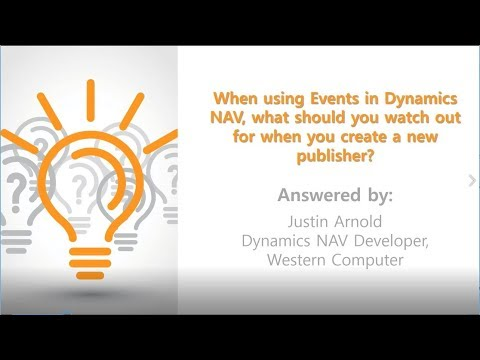 Q&A Series: What Should You Watch Out for When You Create a New Publisher Using Events in NAV